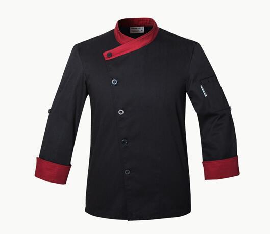 2017 autumn Men Restaurant Kitchen Chef Cotton Jackets Coats Uniform Double Breasted Buttons Cook Accessories Clothes