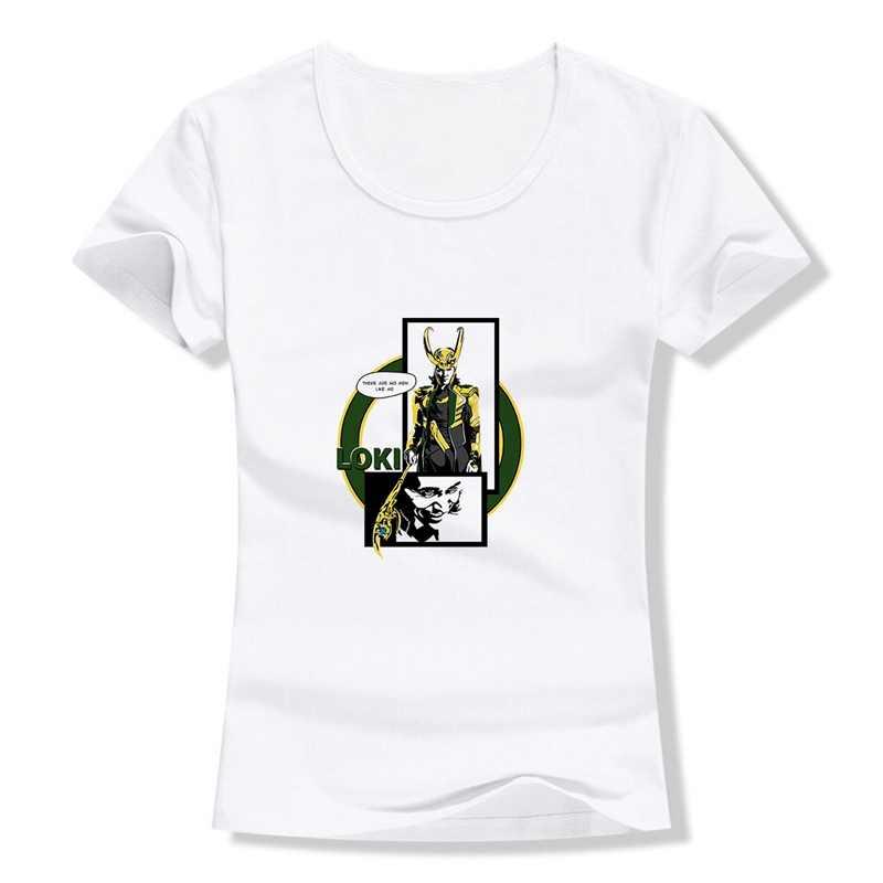 Marvel Movie Black Widow Captain Loki Iron Man Più Il Formato Allentato O-COLLO Modale Manica Corta Vestiti Delle Donne di Modo casual T a193291