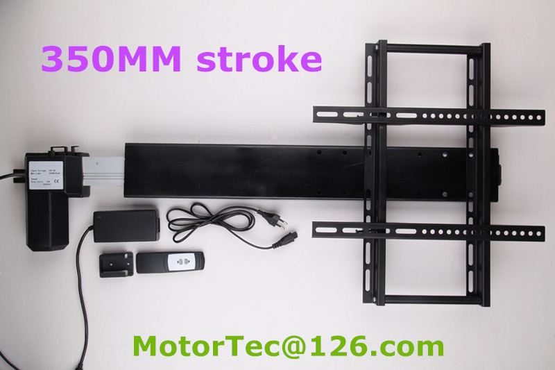 350mm stroke Automatic TV lifter TV lift with mounting brackets for 26-60inch TV ...