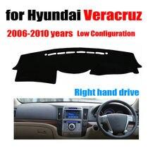 RKAC tampa Do painel do Carro mat para Hyundai Veracruz 2006-2010 Baixa Configuração da movimentação da mão Direita dashmat traço auto acessórios