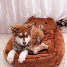 New Pet Dog Bed Warming Dog House Soft Material Pets Dogs Fall and Winter Warm Nest Kennel For Cat Puppy RLBED-001