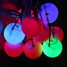 Мигающий светодиодный светильник с разноцветными шариками для профессионального танца живота, вечерние, водонепроницаемые