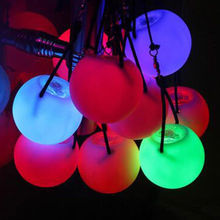 Flashing LED Multi-Coloured Glow POI Thrown Balls Light up For Professional Belly Dance Hand Prop Party decor Waterproof комод saga ingvar coloured body light
