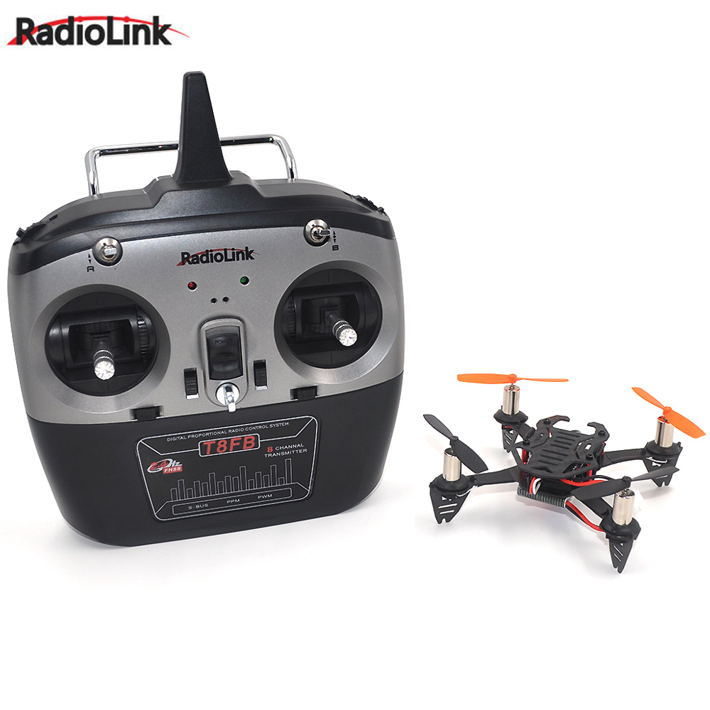 1SET Radiolink F110 Mini Drone Quadcopter with T8FB 8CH RC Transmitter radiolink t8fb 2 4ghz 8ch rc transmitter with r8eh receiver combo remote rontrol for rc helicopter diy rc quadcopter plane