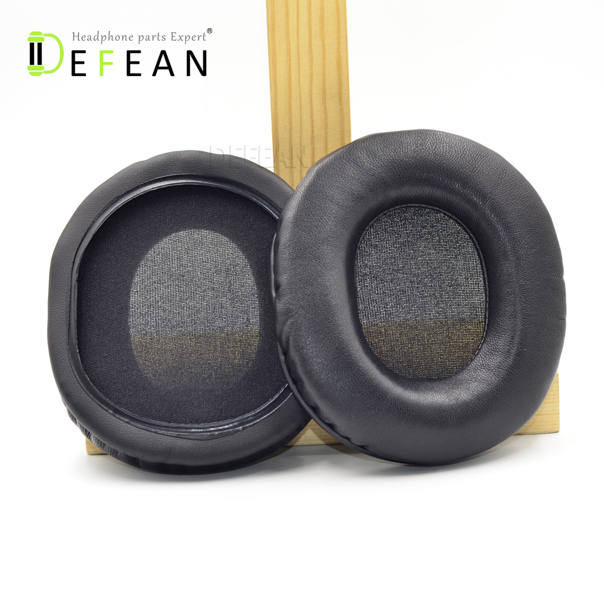Defean Genuine Leather ear pads for Audio-Technica M40 M40FS M50 M50X M50S Headphones
