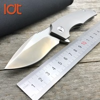 LDT Titanium Handle IKBS Folding Knife VG10 M390 Blade Ceramic ball bearings Tactical Knives Outdoor Survival Pocket EDC Tools