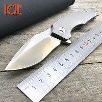 LDT Titanium Handle IKBS Folding Knife VG10 M390 Blade Steel bearing Tactical Knives Outdoor Survival Pocket EDC Tools
