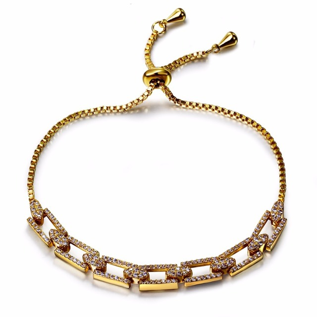 Excellent Design Bracelet Fast Delivery Awesome Bracelets For Women Can Adjust Size Rectangular Shape Link Chain