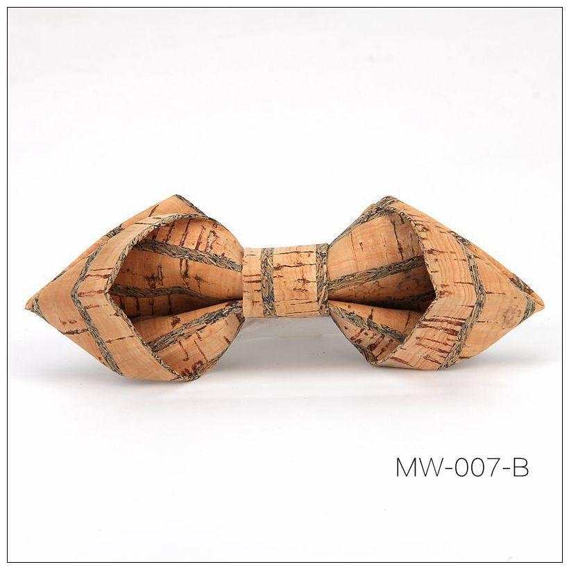 New Handmade Wooden Cork Bamboo Bow Tie Bowtie Men's Cravat 82