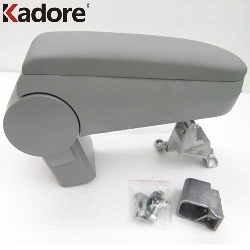 Kadore For Volkswagen VW Jetta Golf GTI MK4 Bora 1999-2004 Gray Auto Leather Center Console Arm Rest Armrest Box Pad Car Styling car armrest central store content storage box for vw volkswagen golf 4 mk4 bora 1999 2003 2004 2005 auto center console armrests