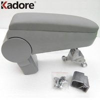 Kadore For Volkswagen VW Jetta Golf GTI MK4 Bora 1999 2004 Gray Auto Leather Center Console Arm Rest Armrest Box Pad Car Styling