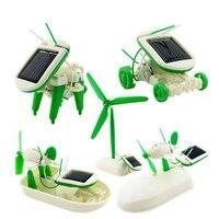 6 IN 1 Educational Solar Robert Kit Solar Energy Windmile Cars Model Assemble Kit Children Solar