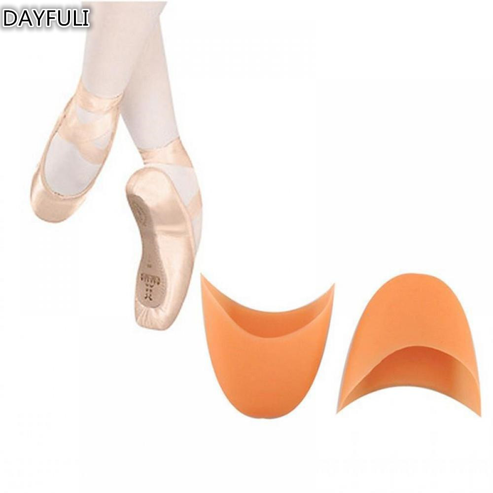 2PCS NEW Silicone Pointe Gel Toe Ballet Dance Shoes Pads Protector