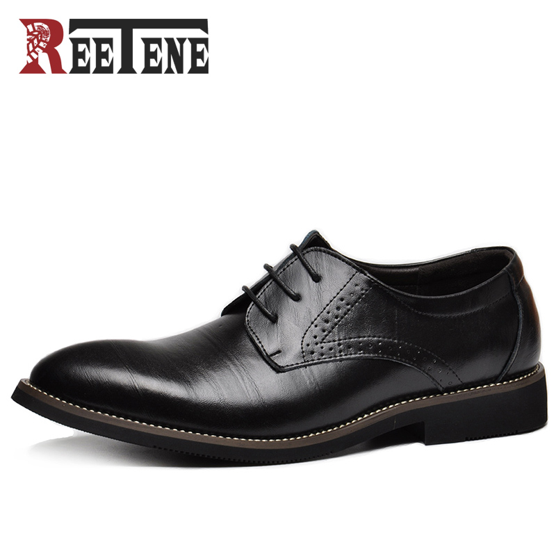 100% Genuine Leather Mens Dress Shoes, High Quality Oxford Shoes For Men, Lace Up Business Men Shoes, Brand Men Wedding Shoes