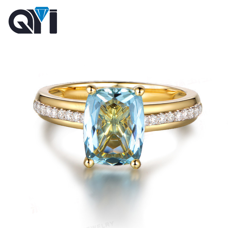 2.50 Ct Round Yellow Citrine White Topaz 925 Sterling Silver Ring