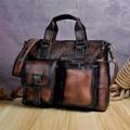 Männer Original Leder Retro Designer Business Aktentasche Casual 15 Laptop Reisetasche Fall Attache Messenger Tasche Portfolio B260db