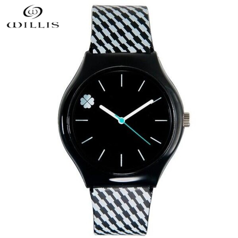 WILLIS Wristwatches Women brand clock women Watch Quartz Wrist watches Four Leaf Clover Design waterproof sports women Relogios
