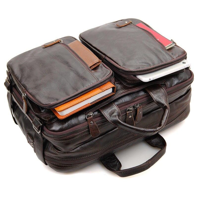 Luggage & Bags Provided Nesitu High Quality Black Coffee Brown Vintage Genuine Leather Men Backpacks Portfolio Men Travel Bags Shoulder Bags M7014