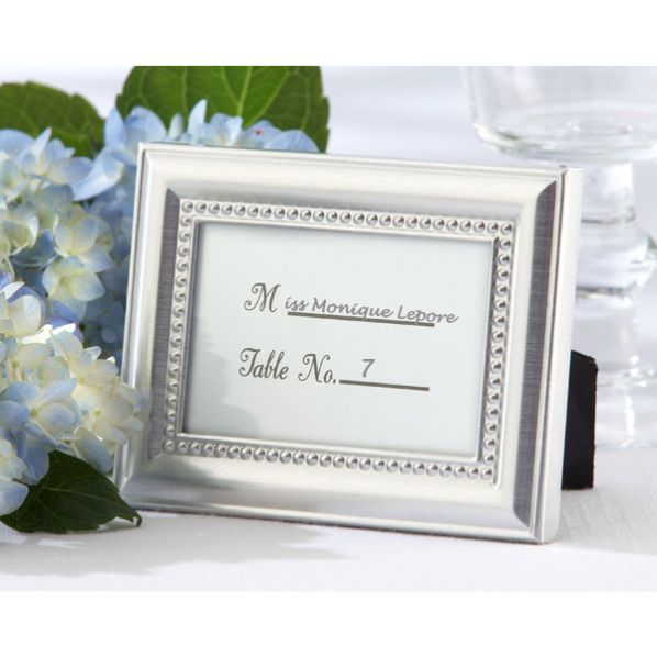 (50Pc/lot) Silver Wedding decoration favors of Silver Photo Frames as  wedding photo holder and Place card holders Wedding gift-in Party Favors  from ...