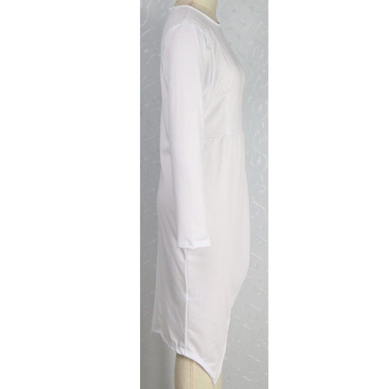 f026b748ad9 Grande taille XL XXL XXXL 2016 femmes Sexy rose robe à manches longues  fendu robe mi longue élégante soirée robes de soirée Clubwear vestido dans Robes  de ...