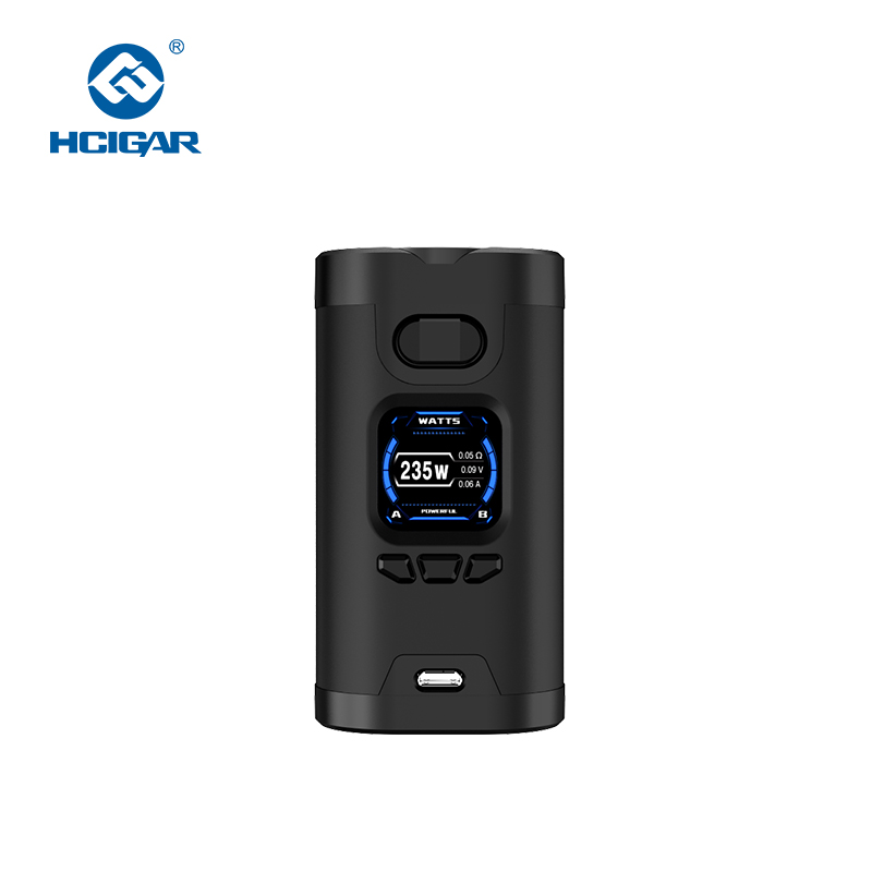 Hcigar Wildwolf 235W Vape Mods Powered By Dual 18650 Towis XT235 Chip TFT Screen Vaporizer Electronic