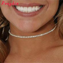 Crystal Choker Necklace Rhinestone Pendant Jewelry Collar Necklace for women Rhinestone Choker Necklace
