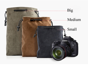 Image 4 - Camera Retro Protector Case Soft Bag Pouch for Canon Nikon Sony Pentax DSLR &  Mirrorless Camera  70D 5D3 D800 D5300 A7R2 XT 20