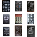 Coffee Menu For Cafe Bar Pub Wall Decor Metal Sign Vintage Home Decor Tin Signs Metal Plaque Retro Plate Shots Metal Poster A751