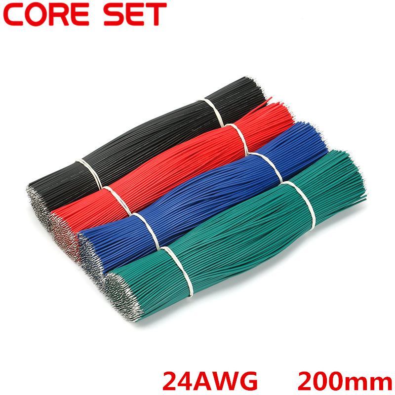 100pcs/Lot Tin-Plated Breadboard Jumper Cable Wire 200mm 24AWG For Arduino 4 Colors Flexible Two Ends PVC Wire Electronic breadboard jumper wires for arduino works with official arduino boards 8 20cm 68 cable pack