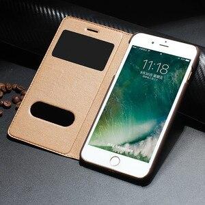 Image 3 - Retro Luxury Leather Flip Case for iPhone 8 plus Genuine Cowhide Flip Case for Apple iPhone 7 plus/7/8/10 X Magnetic Closure