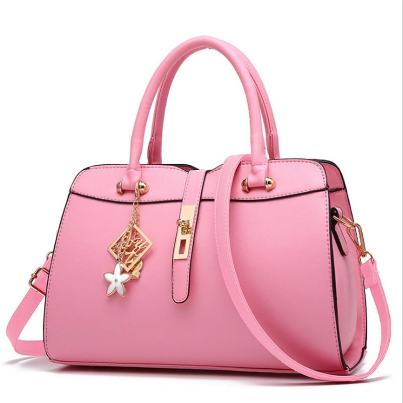 ФОТО New Style 2017 fashion comfortable PU fabric women bag handbag han edition sweet lady fashion female bag  shoulder bag