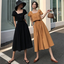 Women crop top and skirt set summer vintage two twin style s