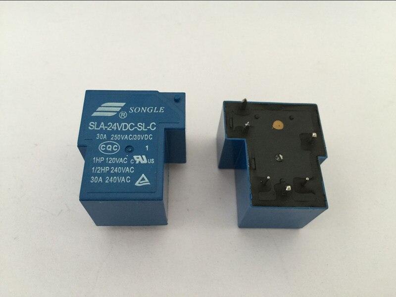 5pcs T90 Coil Relay 24VDC 30A 250VAC 30VDC 6 Pin 1NO 1NC