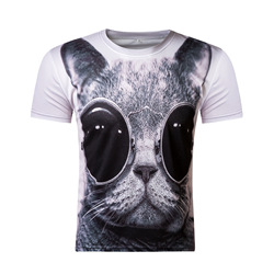 2017 new mens fashion 3d t shirt men short sleeve dj cat printed women casual animal.jpg 250x250