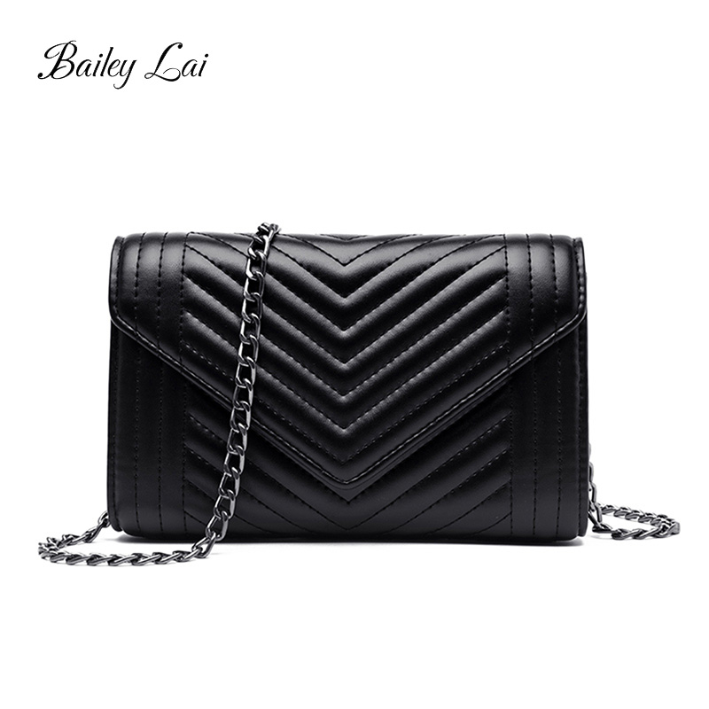 BAILEY LAI Trend  Womens Small Flap Chain PU Leather Solid Color Black Shoulder Crossbody Bags for Girls Messenger BagsBAILEY LAI Trend  Womens Small Flap Chain PU Leather Solid Color Black Shoulder Crossbody Bags for Girls Messenger Bags