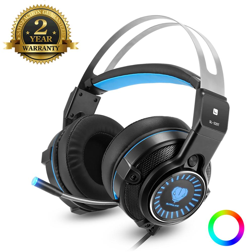 3.5mm Gaming Headset Casque Gamer Stereo Headphone With Microphone Mic LED Game Headsets For PC Computer PS4 New Xbox One Table Headphone/Headset     - title=