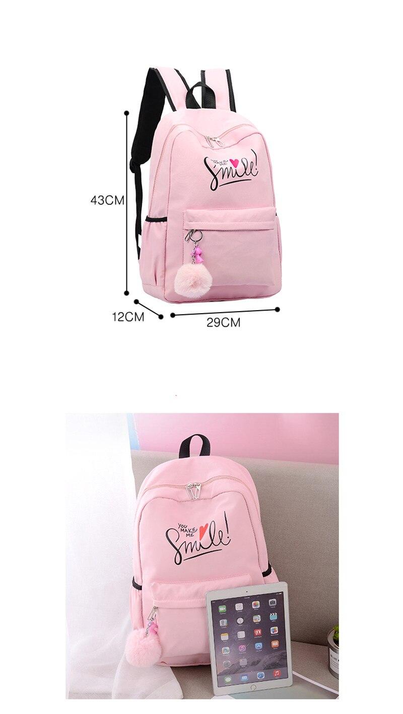 (8)sac à dos pour filles adolescentes