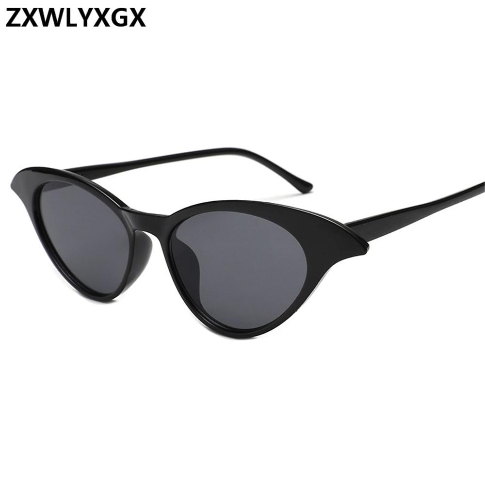 19038c6a7834c ZXWLYXGX 2018 nova pequena caixa do olho de gato óculos de sol da mulher do  homem