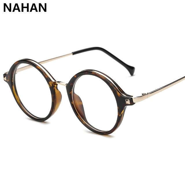 NAHAN TR90 Round Eyewear Frames  Eye Glasses Frames for Women  Plain Mirror Eyeglasses Plastic Titanium Plain Spectacle Frame
