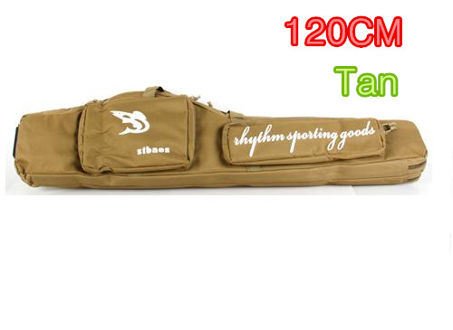 Tan/BLK 1.2m Wide Cushion Pad Strap Sling Military Long Gun Carry Bag Hunting Firearm Pack Airsoft War Game Shotgun Rifle Case qiuzhang sw2107 outdoor war game military protective skeleton half face shield mask tan
