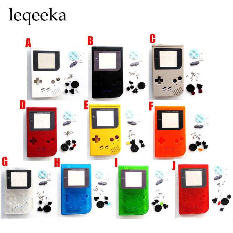 5SETS For Gameboy Classic for GB DMG GBO Colorful Shell Housig Cover Case Full Set Replacement for Gameboy Game Console