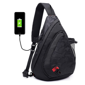 Image 3 - Fengdong waterproof fabric male crossbody bag small black camouflage sling chest bag one shoulder bags for women bagpack daypack