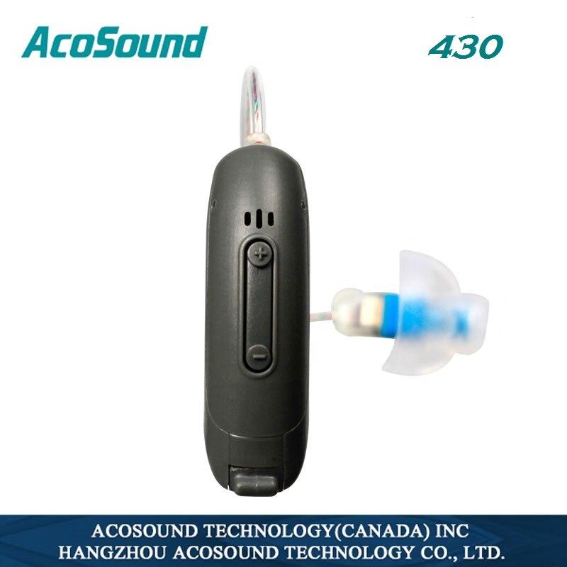 Acosound 430 Mini RIC Numérique Auditifs 4 Canaux BTE Aide Auditive Petit RIC Amplificateurs Auditifs Pour Sourds Oreille Soins outils