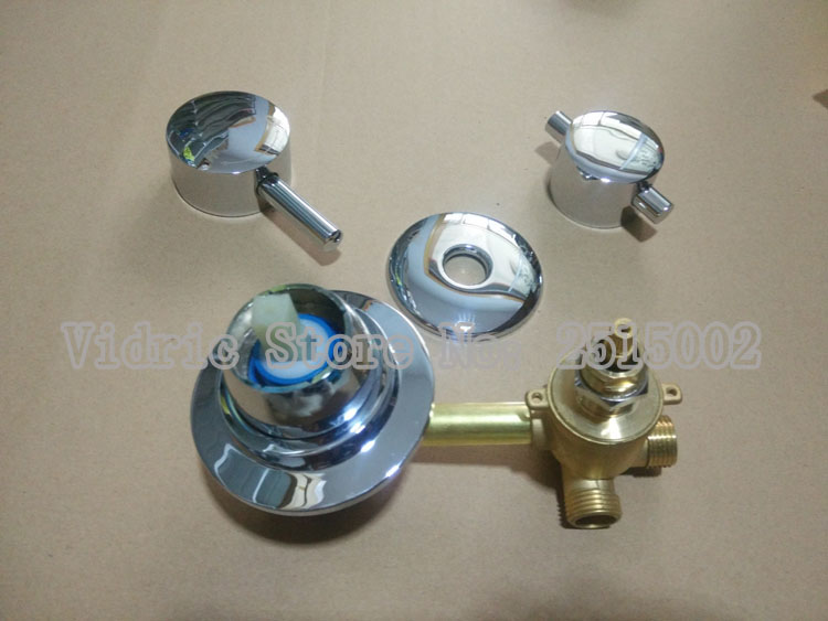 3 Gears Screw Thread Style Connecting Faucet Cold And Hot Water Switch, Bathroom Shower Room Mixing Valve Faucet Water Separtor