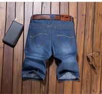 017 Men Summer Denim Shorts Men's Casual Cotton Panties Male Mid Waist Jeans Fitness Short Pants Fashion Beach