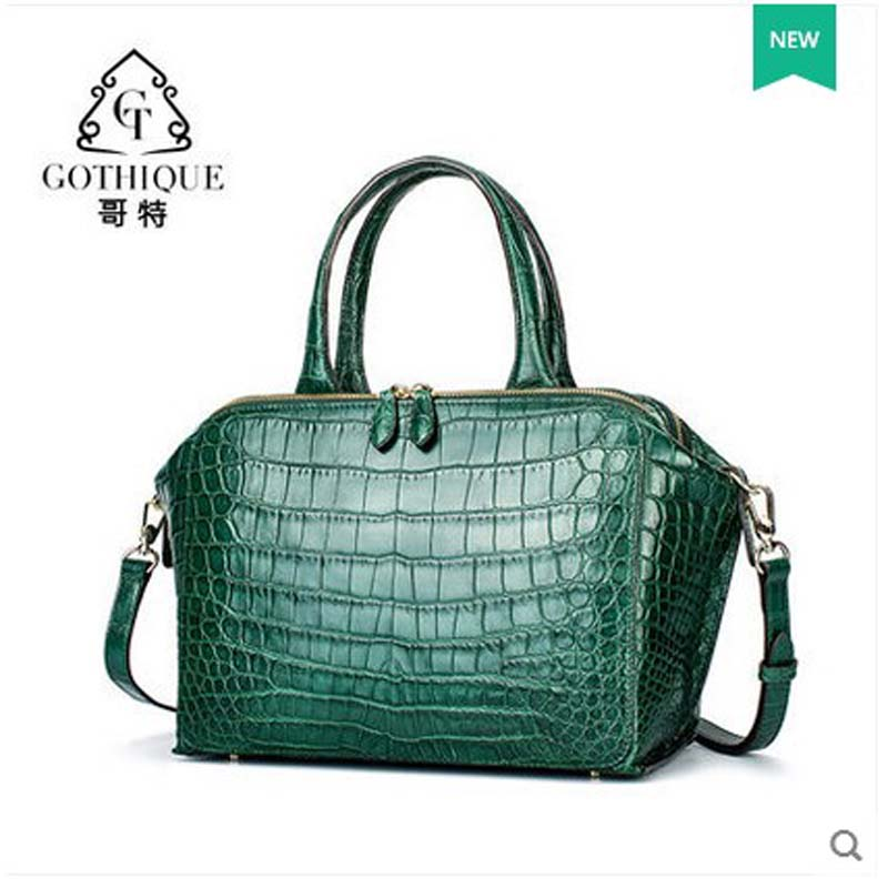 gete new crocodile skin Female bag women handbag genuine leather large size crocodile leather women bag niro luxury baby bag