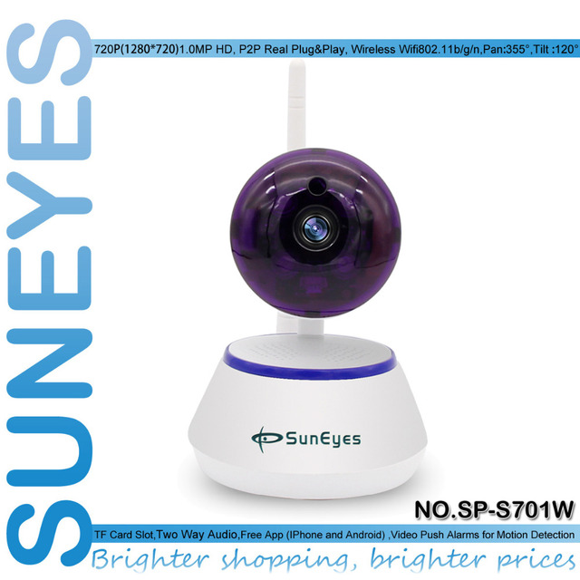 SunEyes SP-S701W 720P HD Mini P2P IP Camera Wireless Wifi Pan/Tilt Two Way Audio Video Push Alarm with Motion Detection Free APP