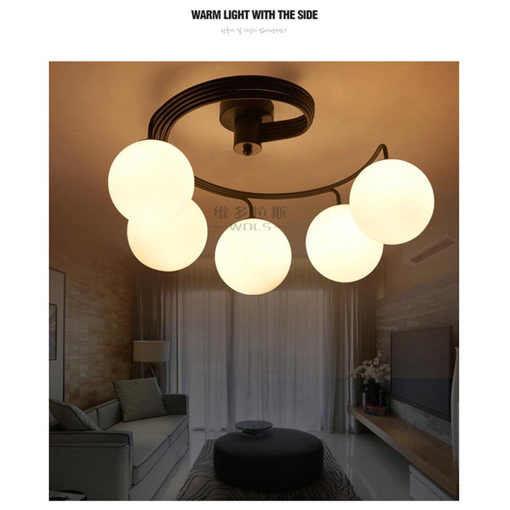Abat-jour en verre moderne led salle à manger lustres éclairage rétro grand espace éclairage d'intérieur loft Lustres lampe Soutient E27