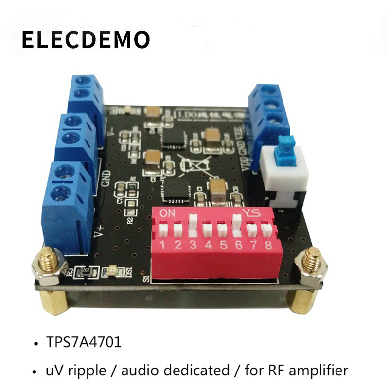 TPS7A4701 module  TPS7A3301 ultra low ripple positive and negative power uV ripple linear power supply genuine specials-in Demo Board Accessories from Computer & Office