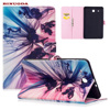 For Galaxy Tab E9 6 Case Art Print Flip Stand PU Leather Magnetic Snap Case Cover